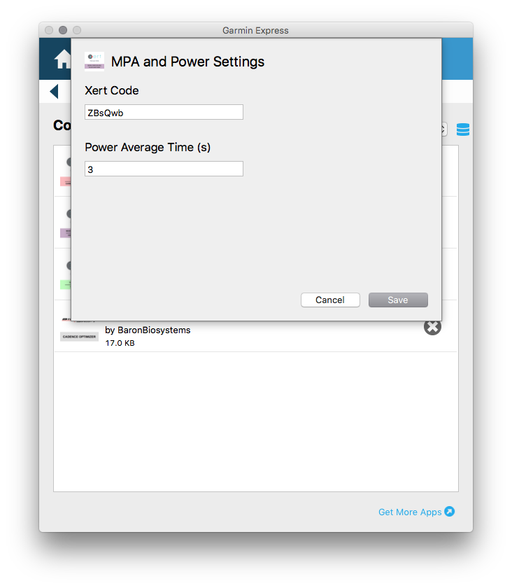 MPA and Power Config Screen